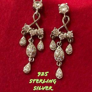 925 sterling silver boho dangle earrings EUC VTG